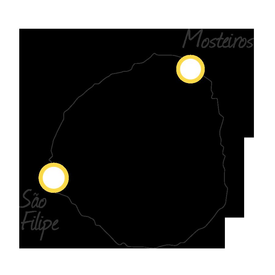 isla de fogo cabo verde mapa blanco