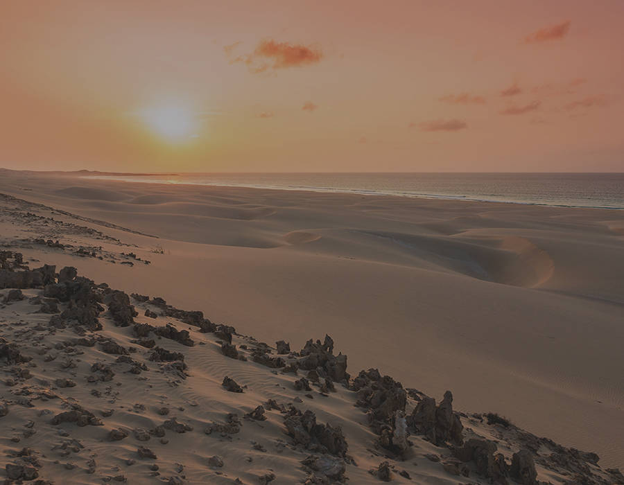 islas de Cabo Verde isla de boavista playa arena blanca