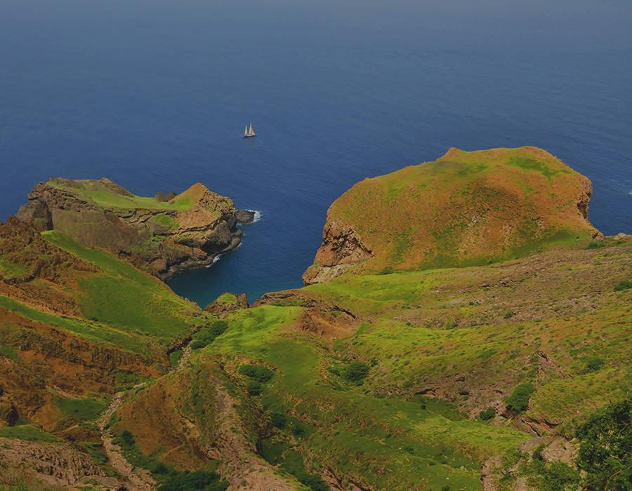 islas de Cabo Verde isla de brava paisaje costa