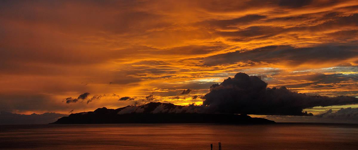 isla de brava puesta de sol desde Fogo