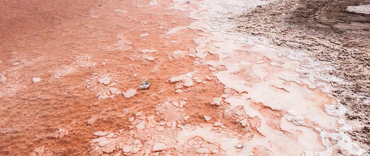 isla de sal salinas rojo
