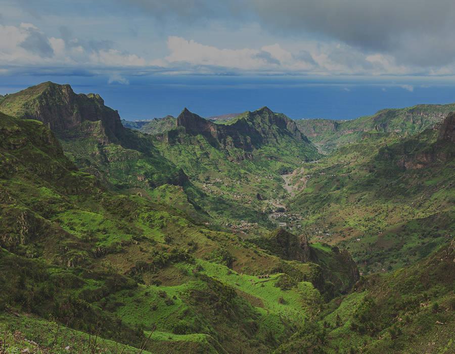 islas de Cabo Verde isla de santiago serra malagueta paisaje
