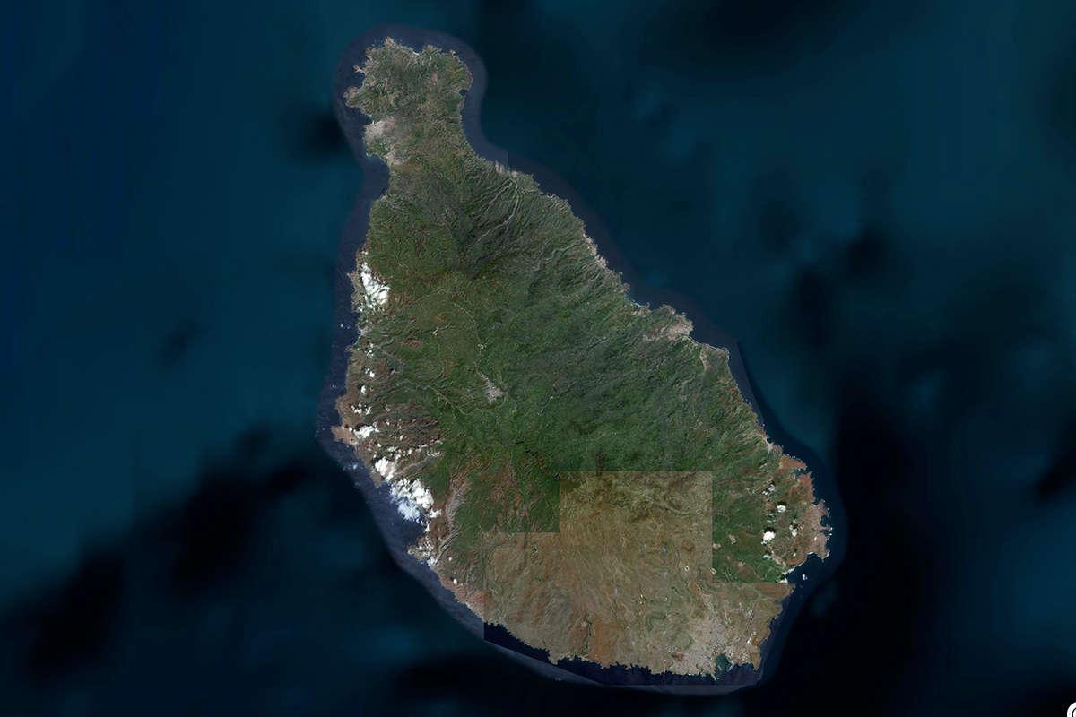 isla de santiago vista de satelite maps