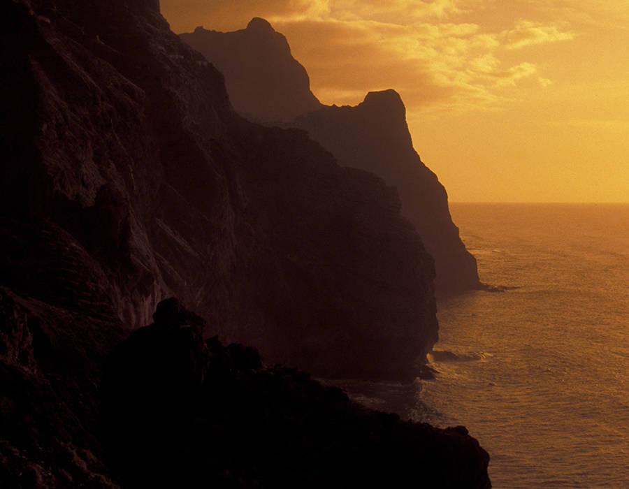 isla de santo antao playas puesta de sol