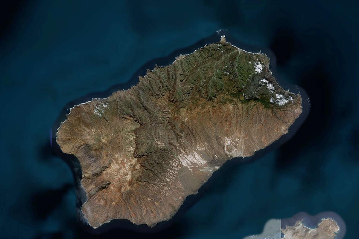 isla de santo antao vista de satelite maps