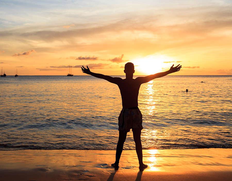 isla de sao niclolau playas puesta de sol