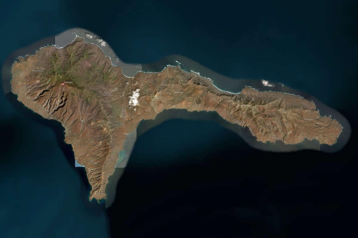isla de sao nicolau vista de satelite maps