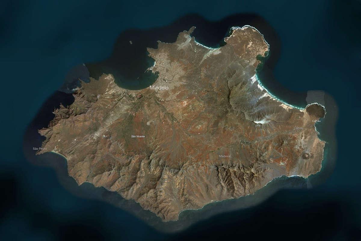 isla de sao vicente vista de satelite maps