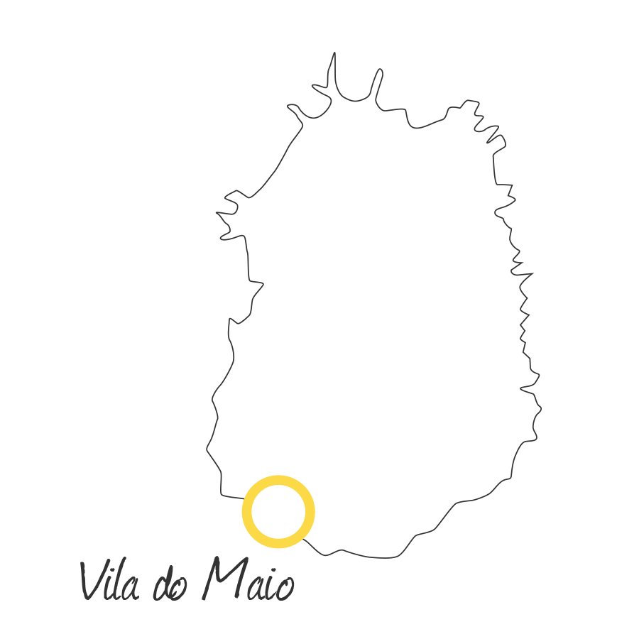 isla de maio cabo verde mapa blanco