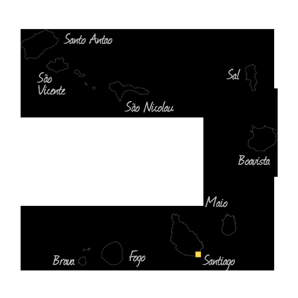 islas de Cabo Verde mapa islas