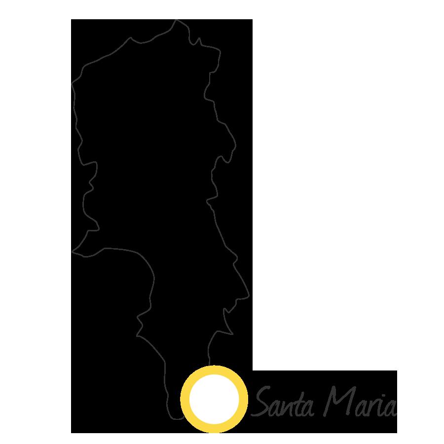 isla de sal cabo verde mapa blanco