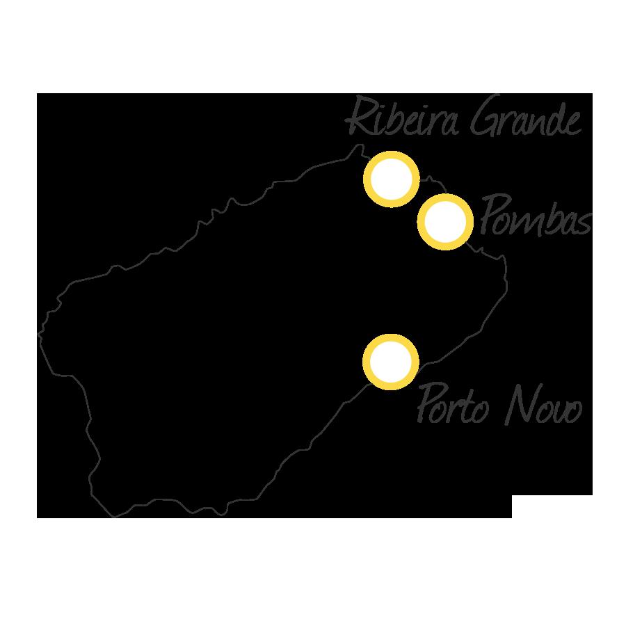 isla de santo antao cabo verde mapa blanco