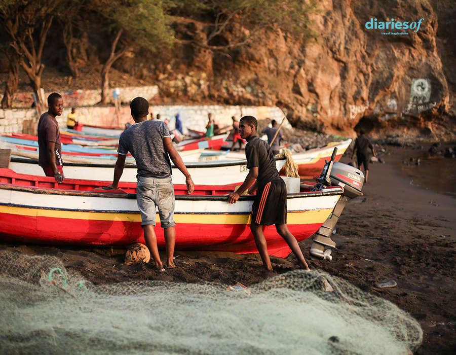 vida pesquera en cabo verde pescadores embarcaciones