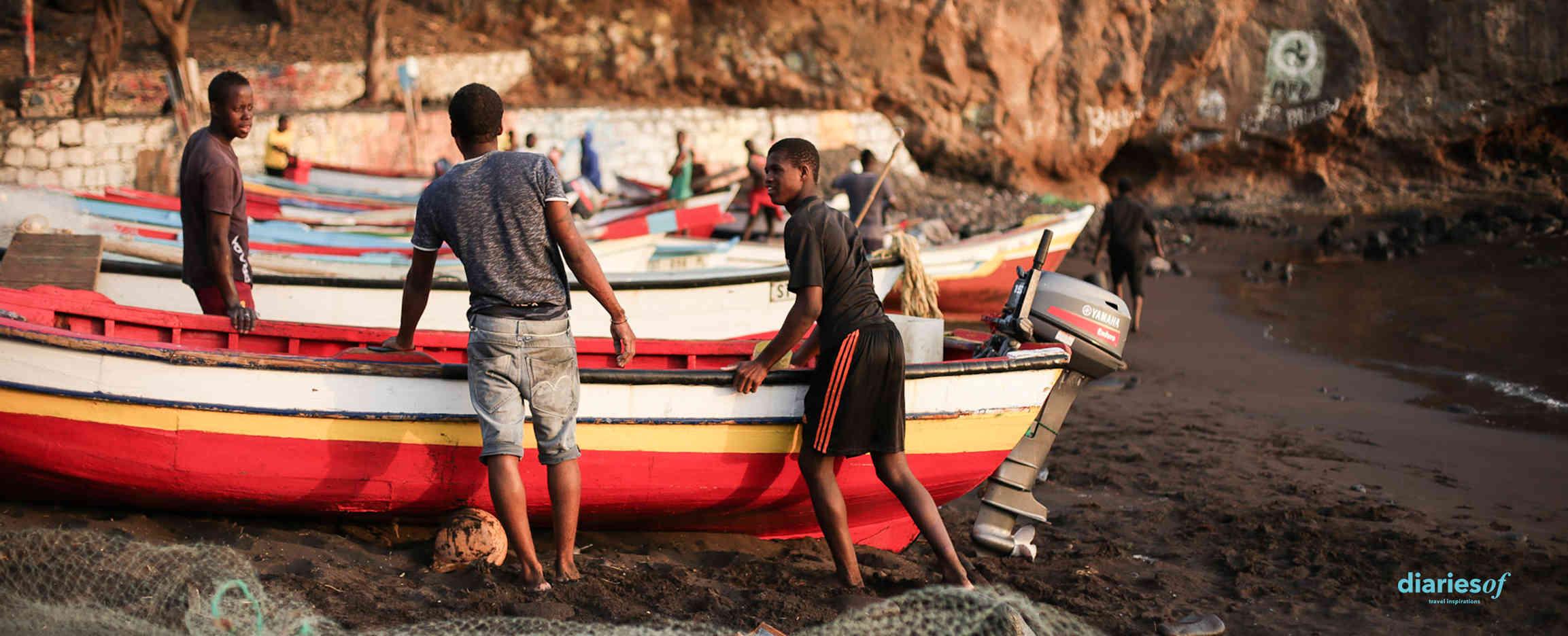 vida pesquera en cabo verde pescadores