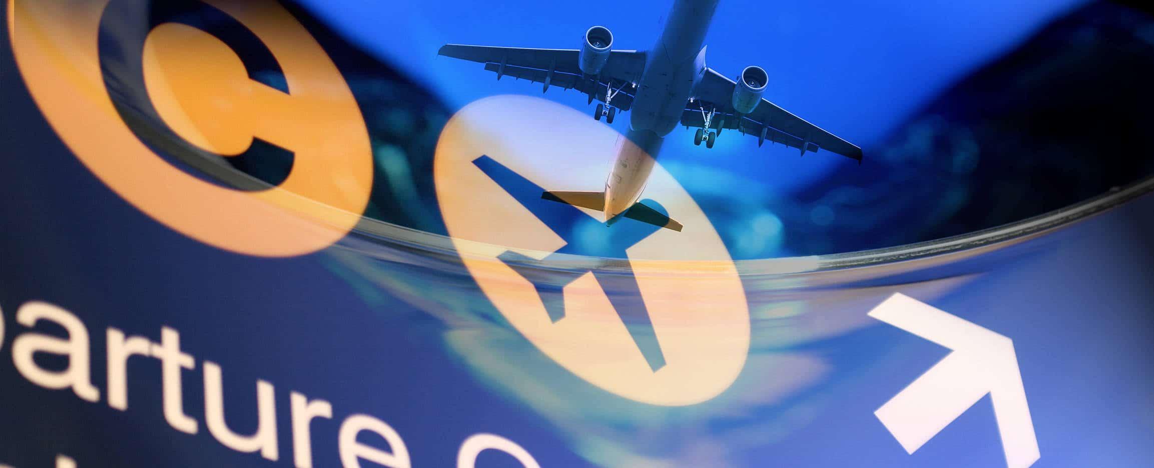 cuelos con escala señal departures aeropuerto