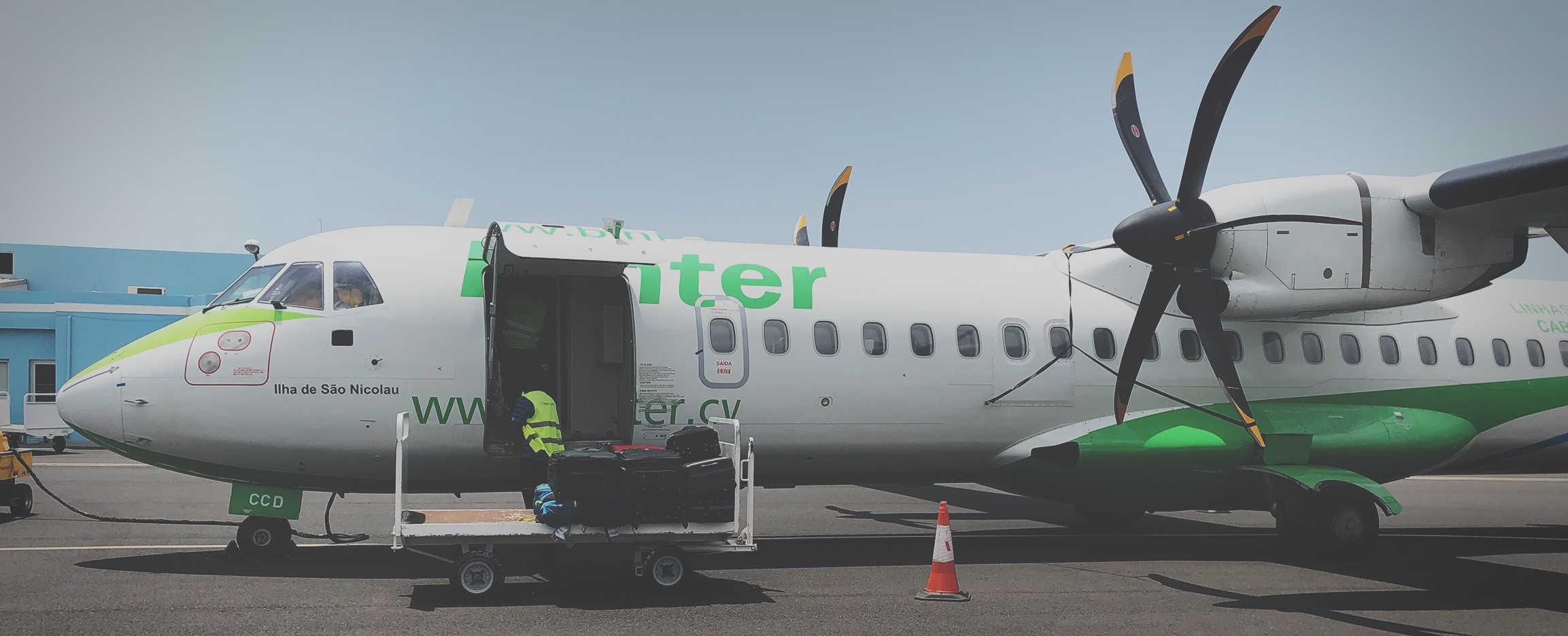 vuelos internos en cabo verde aeronave en sao nicolau