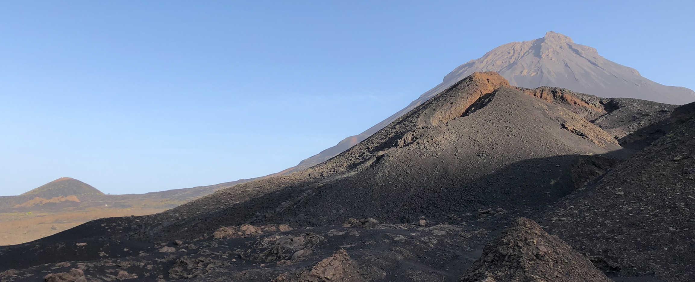 pico grande en el parque natural de Fogo