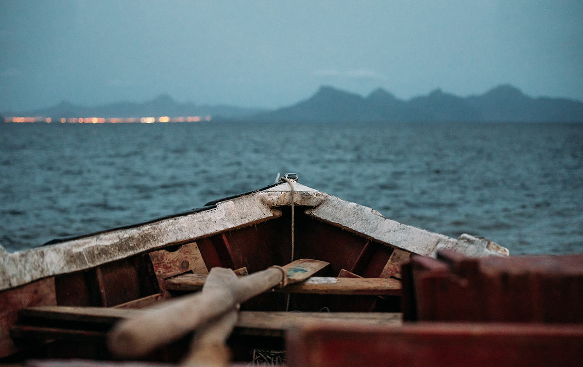 cabo verde criollo vista desde una barca pesquera