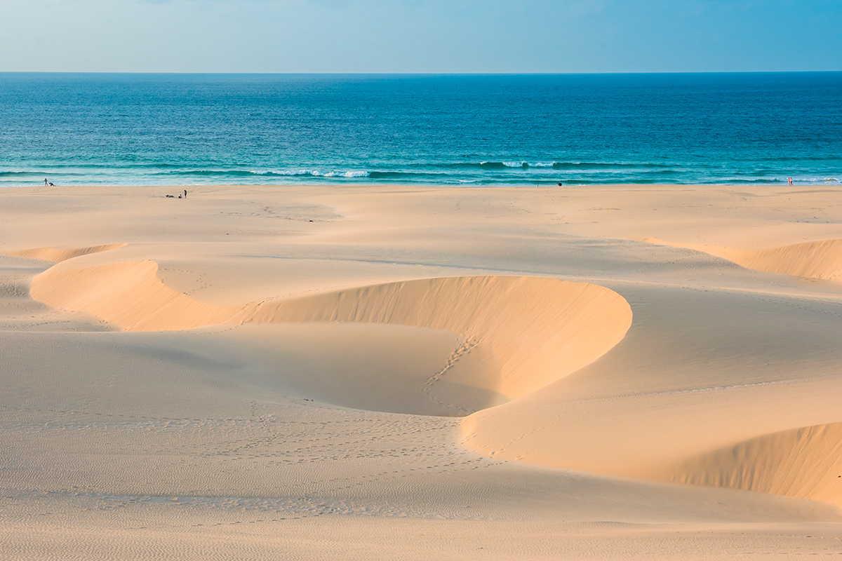 arenas de cabo verde dunas en la playa