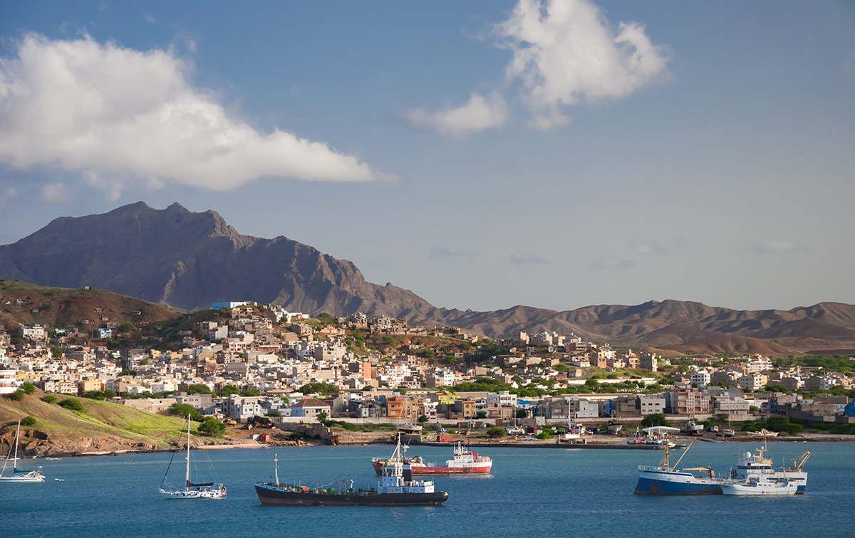 islas de barlovento bahía en Mindelo Sao Vicente