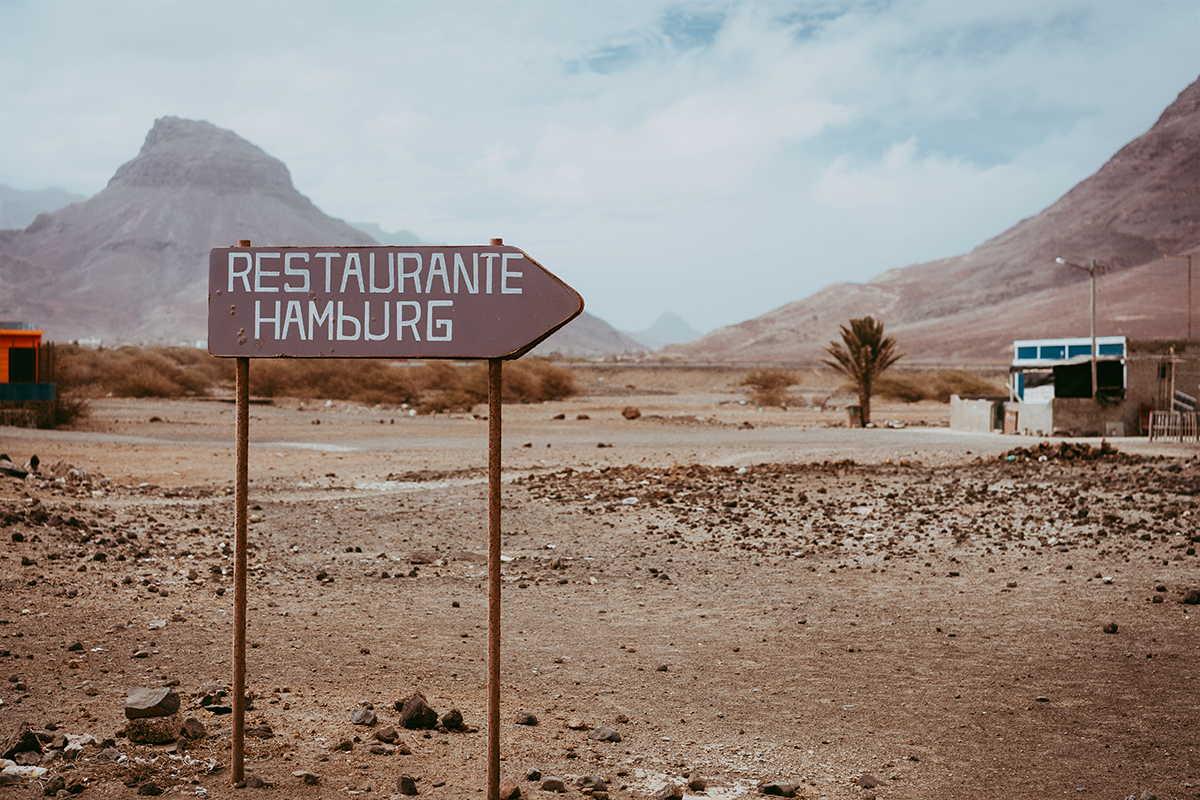 trekking barlovento paisaje con restaurante