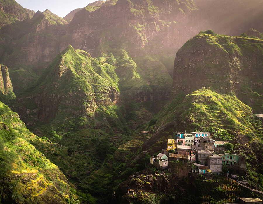 santo antao fontainhas valle profundo con casas